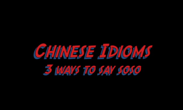 Learn Chinese Idioms-3 Ways to Say SoSo in Chinese