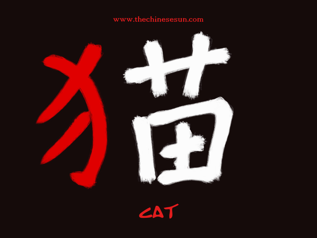basic-chinese-radicals-cat-in-chinese-characters-chinese-writing-chinese-symbols